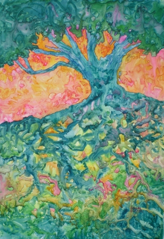 Tree with Roots.Glenda Dietrich Moore
